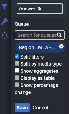 Configuration menu for Genesys Cloud